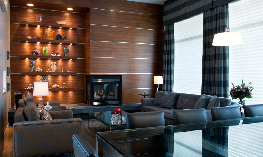 Bruce Shefrin Interior Design. Dark Cosy Den